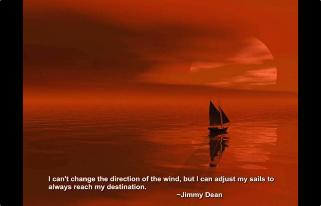 Adjust the direction of your sails