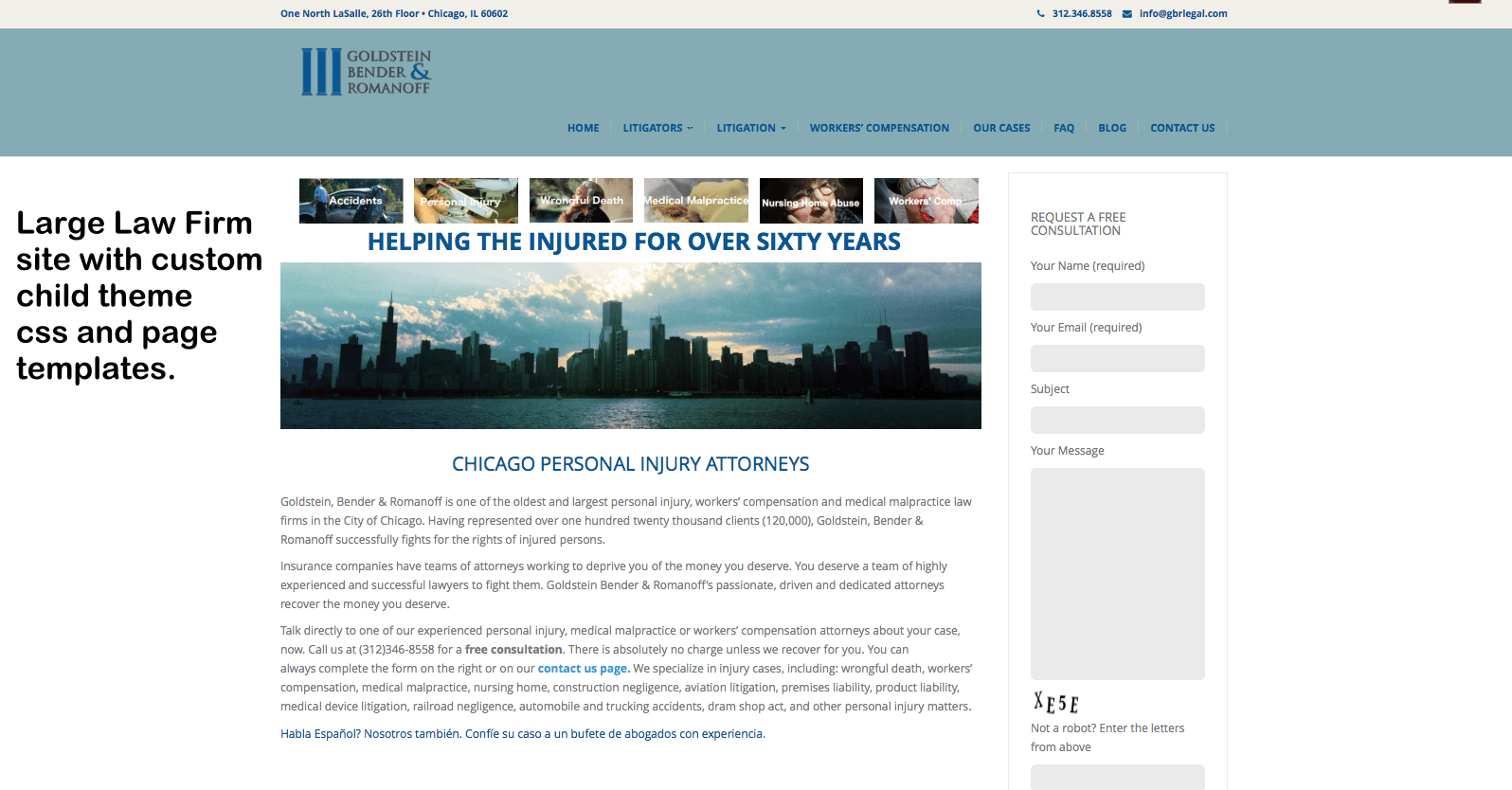 Law Firm WordPress Website