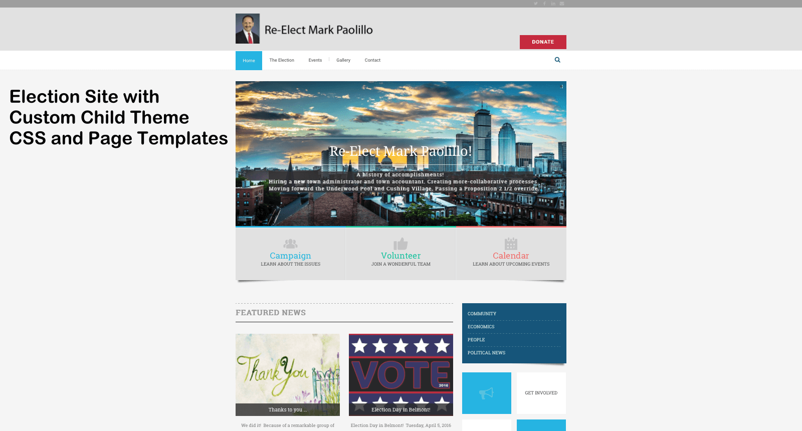 Election WordPress Website