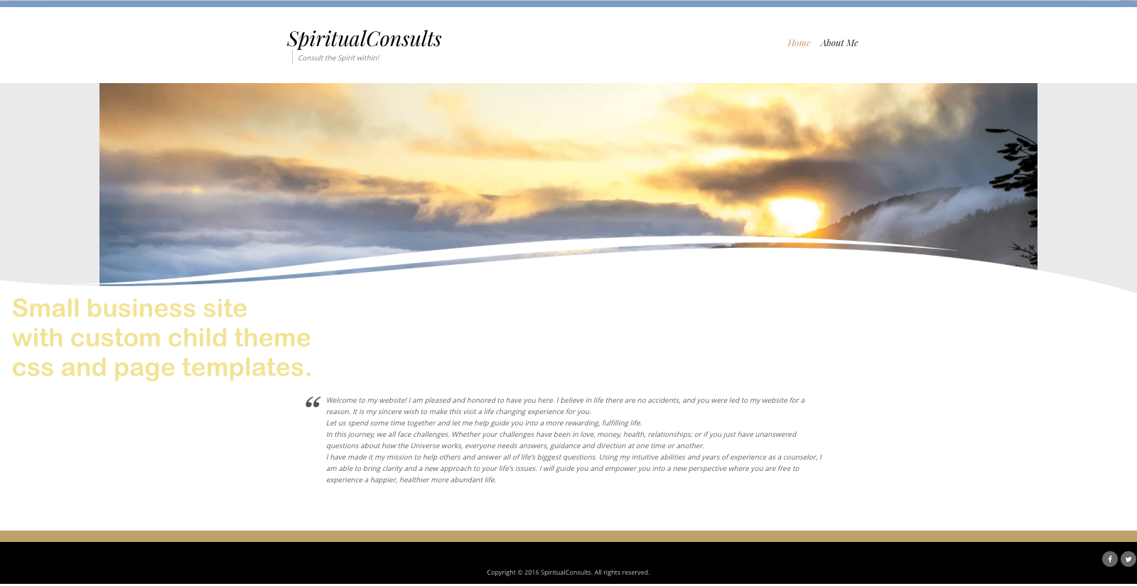 Spiritualist WordPress Website