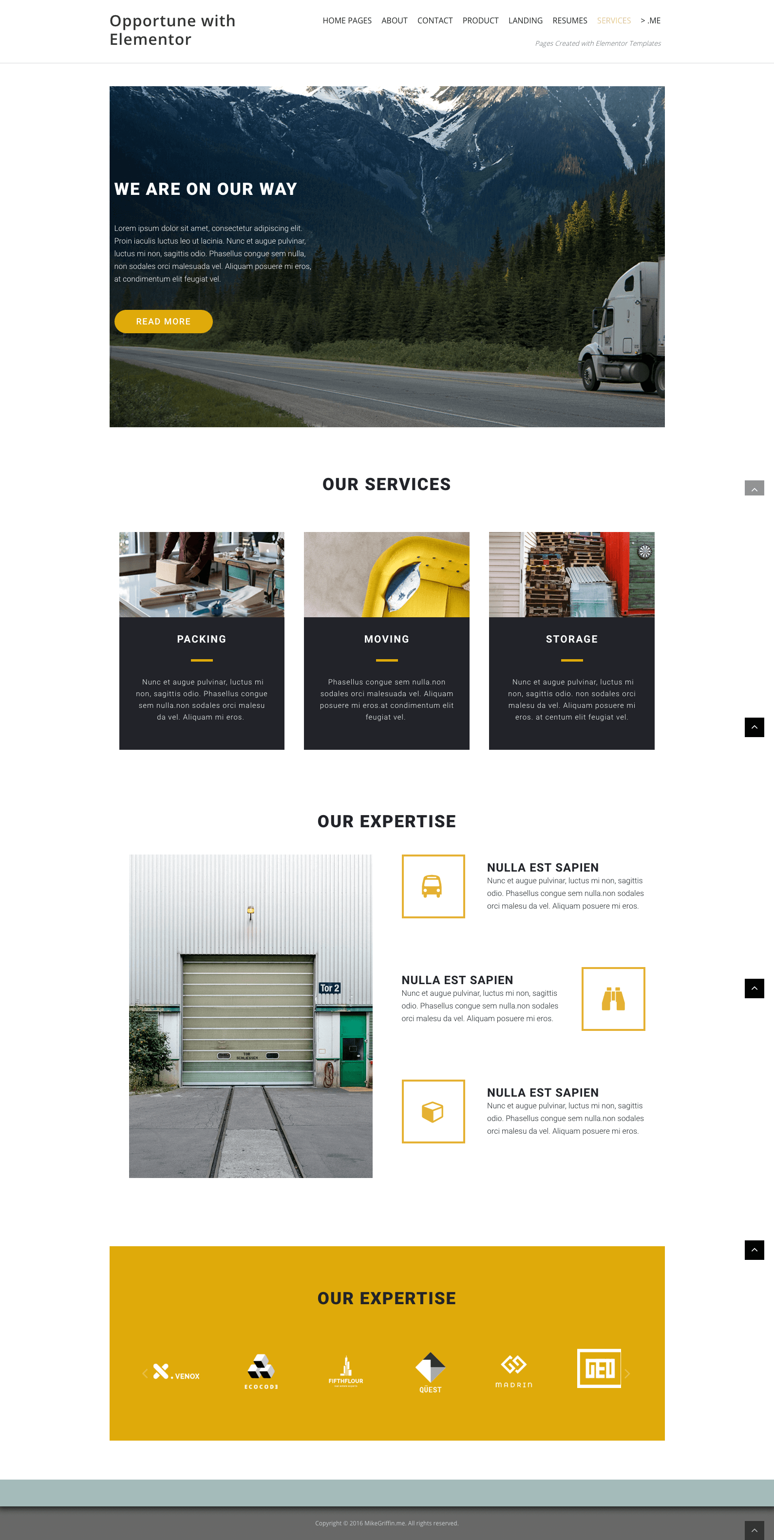 services offered template