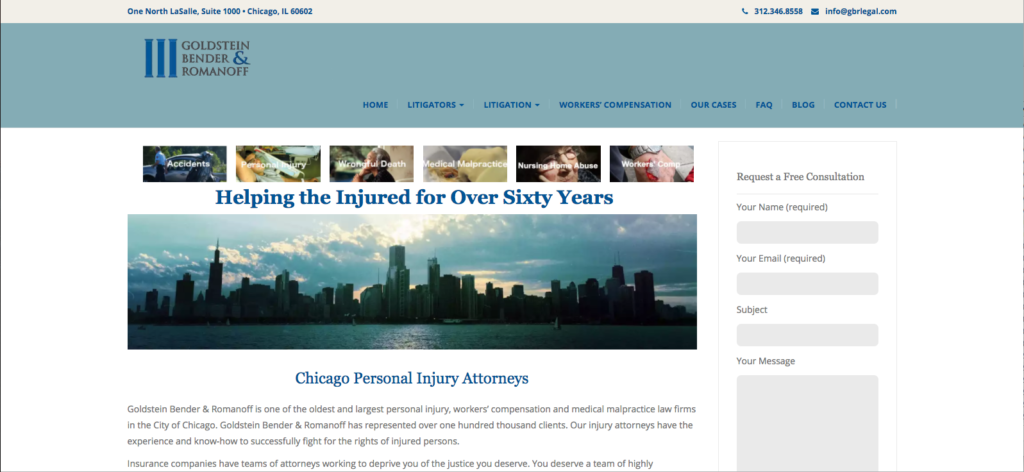 Personal Injury Attorney WordPress Website