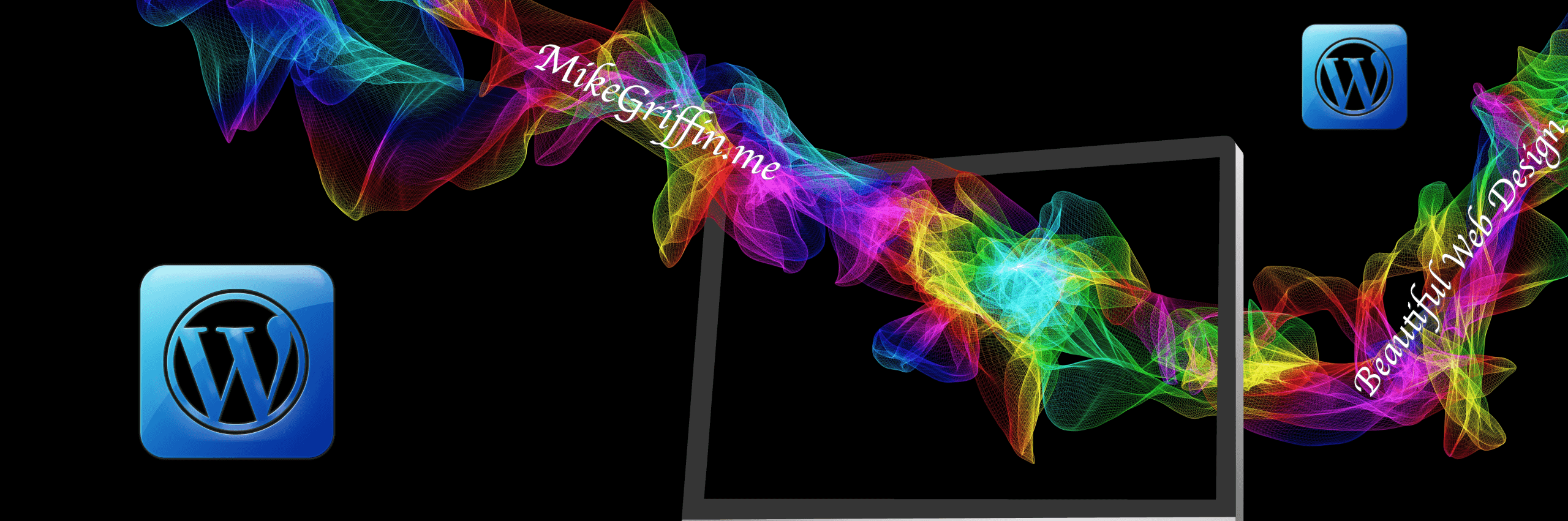 MikeGriffin.me WordPress Particle Banner