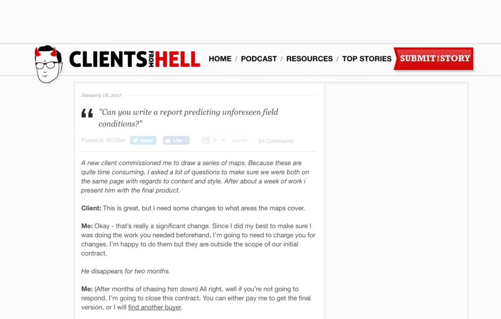 WordPress Clients From Hell