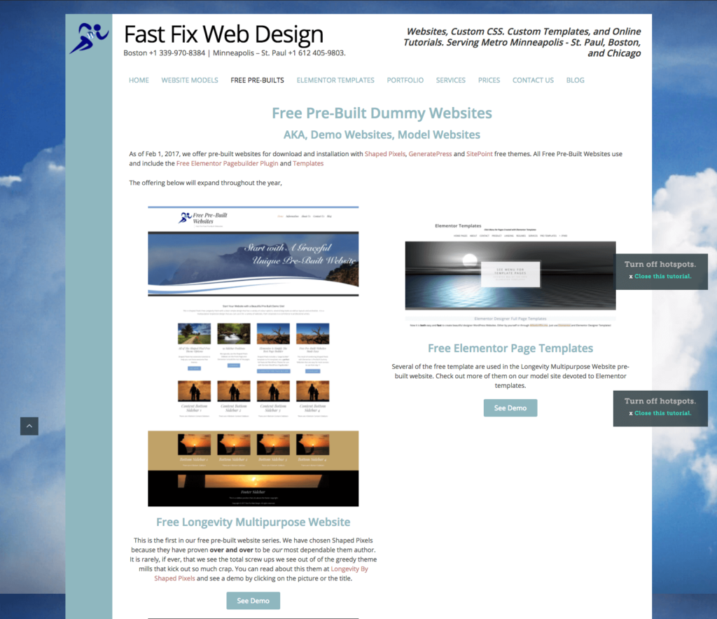 Pre-Built Websites for Small Businesses