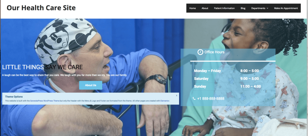 One Click Install Elementor Healthcare Website