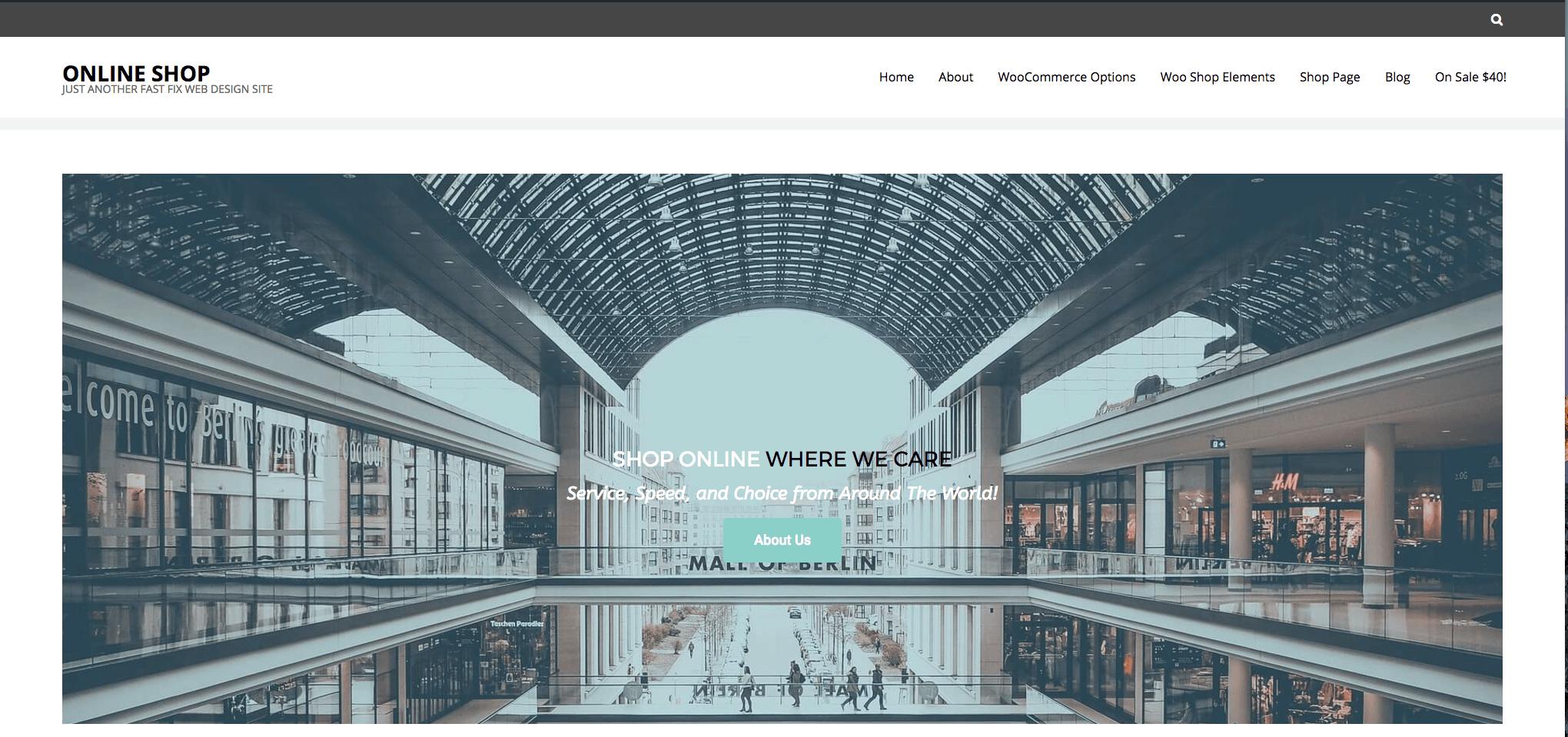 Elementor eCommerce Website