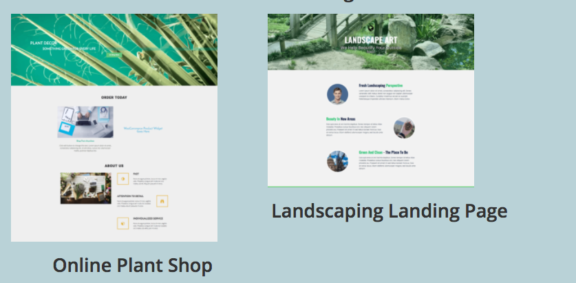 free elementor plant and landscaping templates