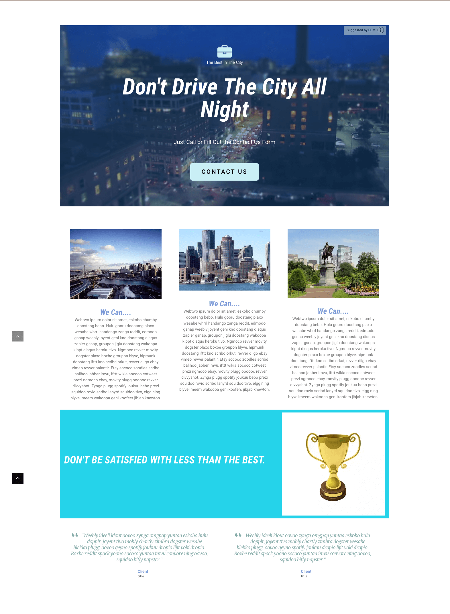 Boston Business Landing Page - MikeGriffin.me